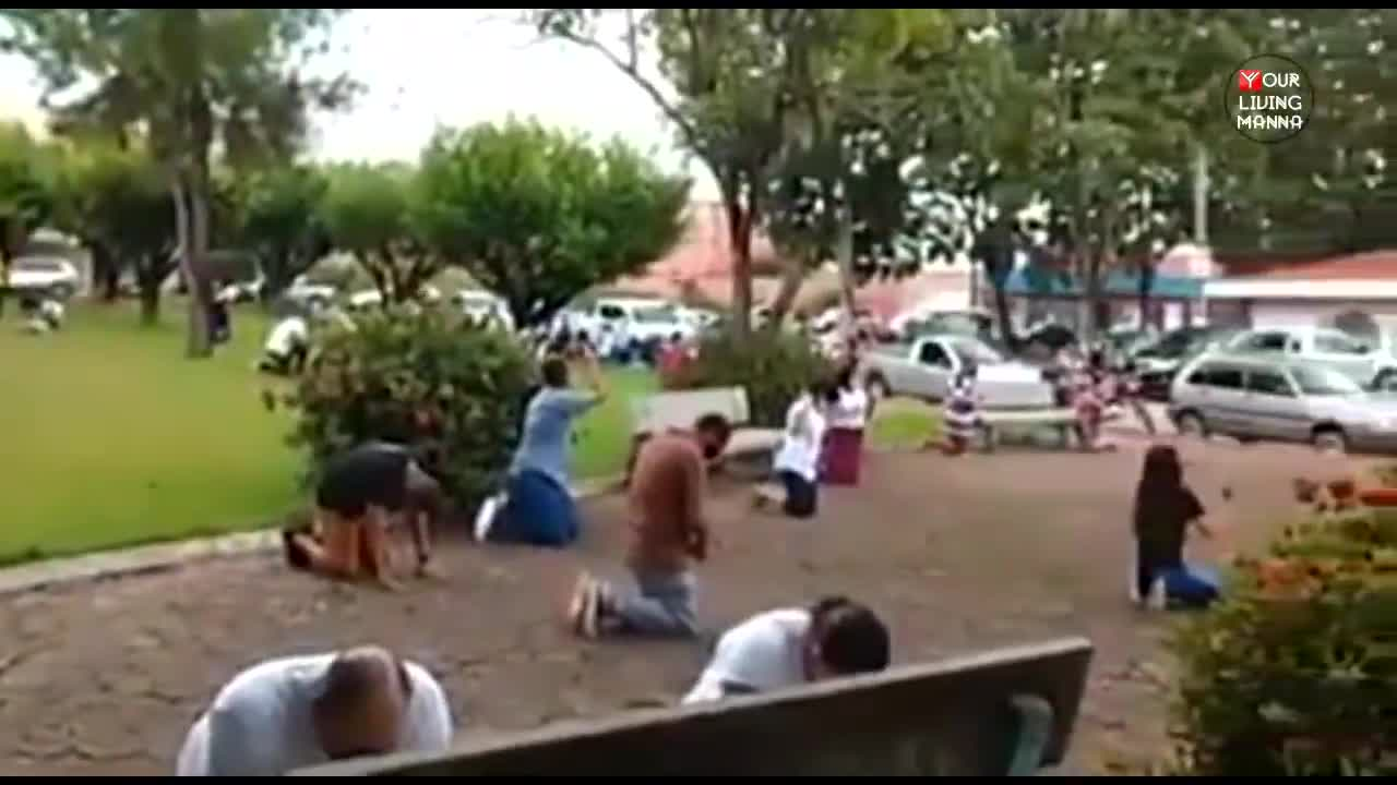 Believers on their Knees Crying out for God's Mercy in Brazil